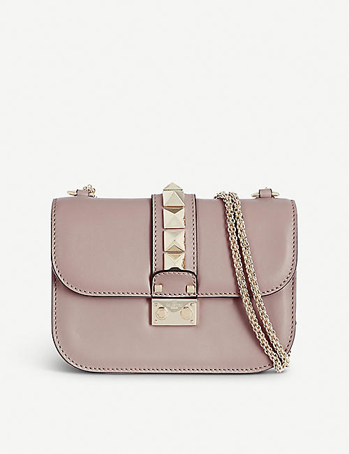 2ac2820aed72 VALENTINO - Stud lock small shoulder bag