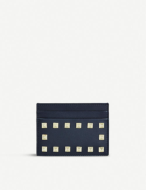 VALENTINO GARAVANI: Rockstud studded leather card holder
