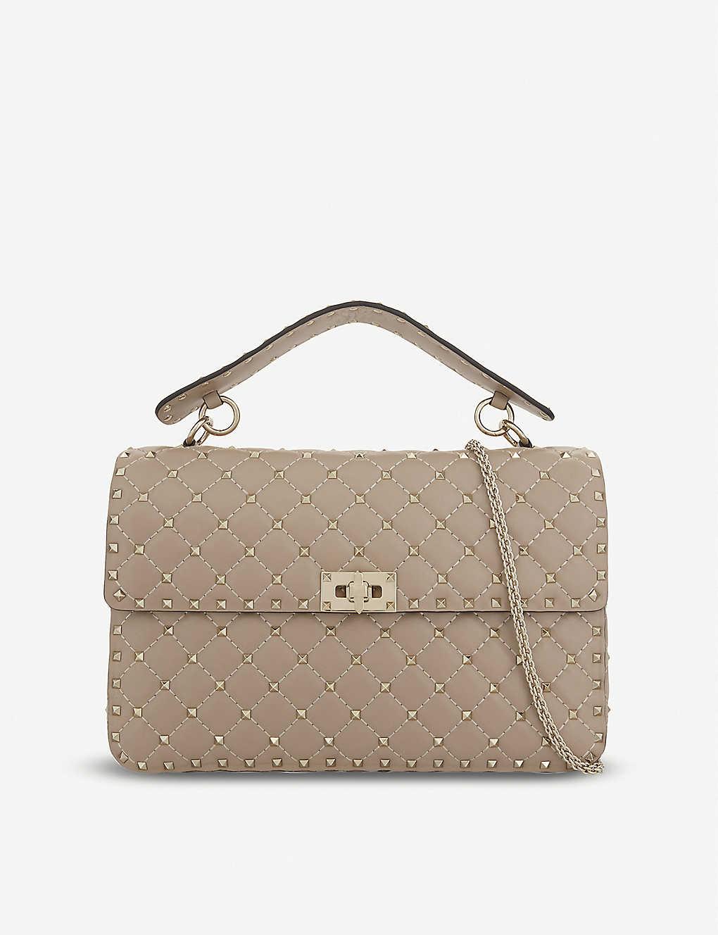 e537e16f4b VALENTINO - Rockstud large leather shoulder bag | Selfridges.com
