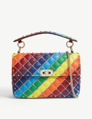 VALENTINO Rockstud Spike rainbow cross-body bag