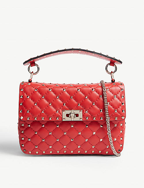 ce5a5cff5217f VALENTINO Rockstud quilted leather shoulder bag