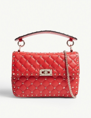 VALENTINO Rockstud quilted leather shoulder bag