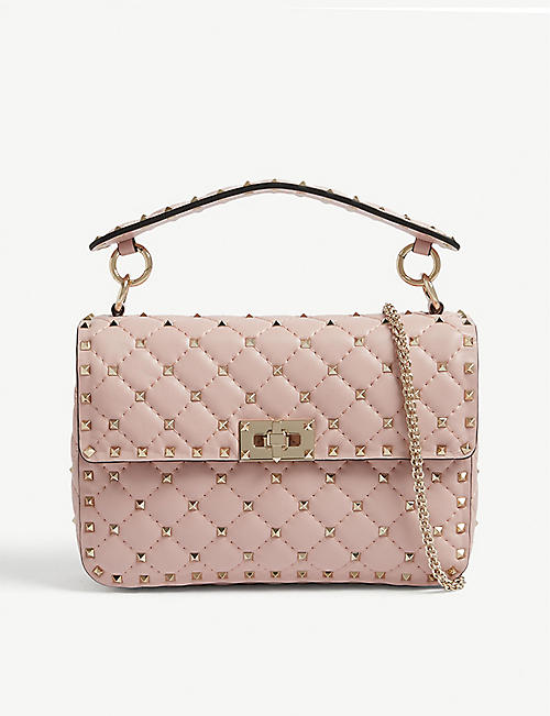 VALENTINO Rockstud quilted medium leather shoulder bag