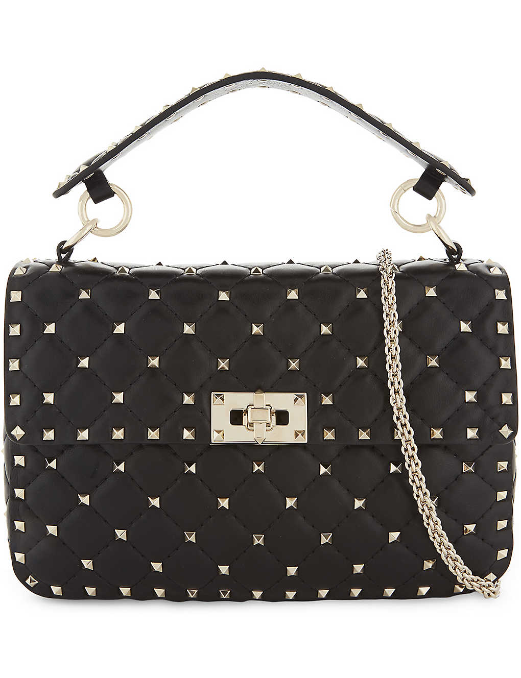 805e723292 VALENTINO - Rockstud medium leather shoulder bag   Selfridges.com