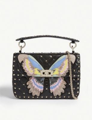 6d02d7d2bd VALENTINO - Butterfly quilted medium shoulder bag | Selfridges.com