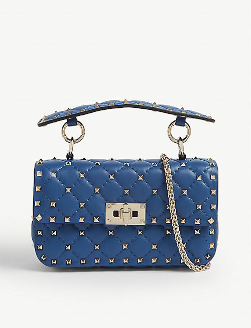 8fbe501655ac VALENTINO Rockstud small leather shoulder bag