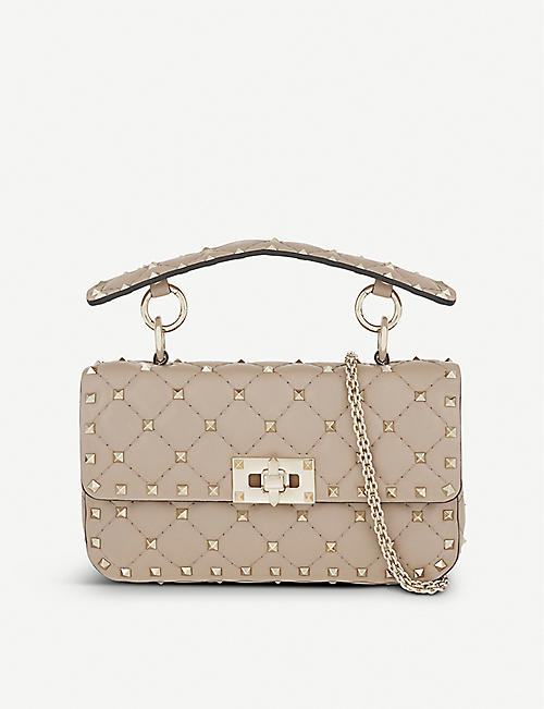 VALENTINO Rockstud small quilted leather shoulder bag