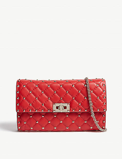dc0e29d00d0 VALENTINO Rockstud quilted leather cross-body bag