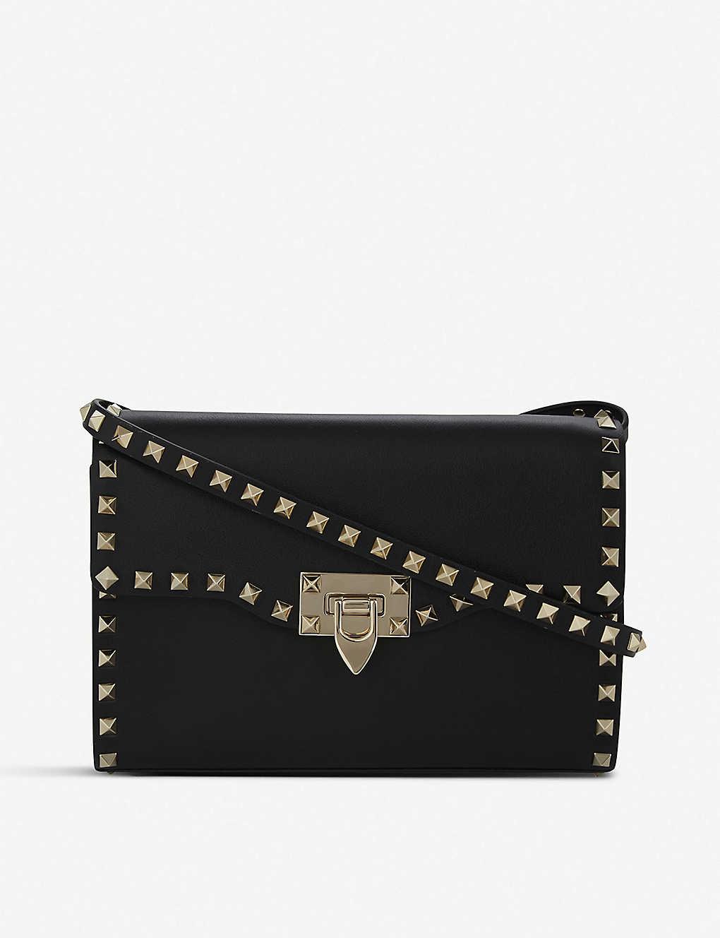ea3f22be9220 VALENTINO - Rockstud leather cross-body bag