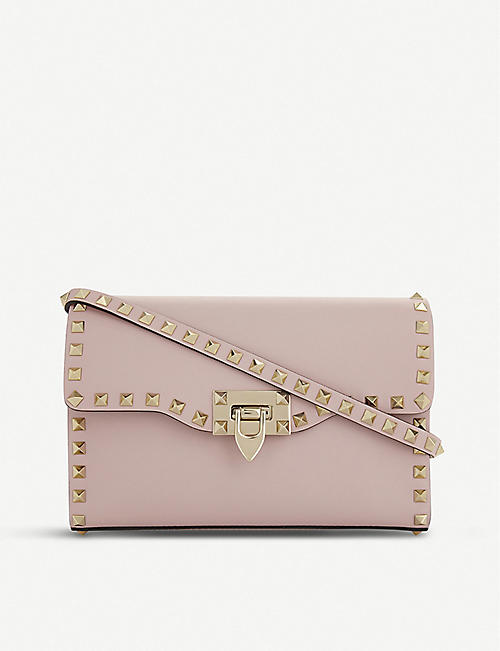 26a0ccc679c VALENTINO Rockstud leather cross-body bag