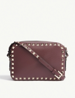 VALENTINO Rockstud leather camera cross-body bag