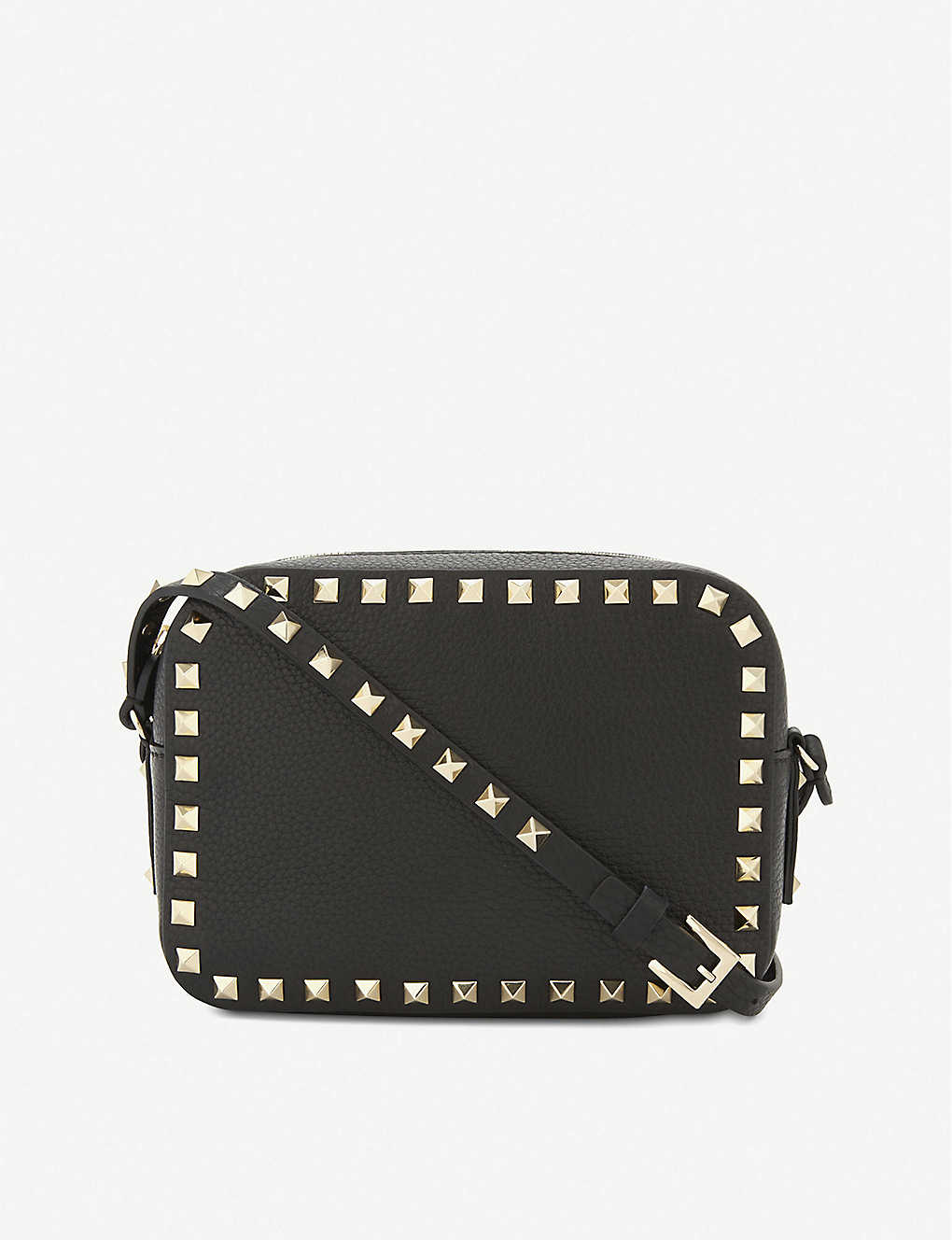 VALENTINO GARAVANI: Rockstud leather cross-body camera bag