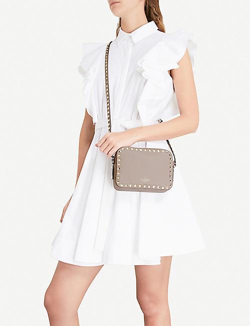185568dba VALENTINO Rockstud leather camera cross-body bag. NEW SEASON. Quick Shop