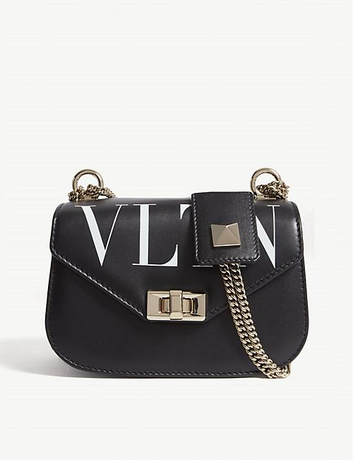 54b4bc9d837 VALENTINO - VLTN leather shoulder bag | Selfridges.com