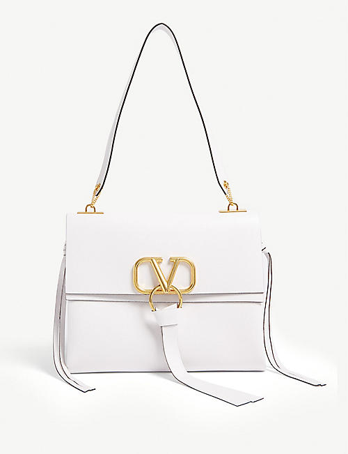 VALENTINO V ring small leather cross-body bag