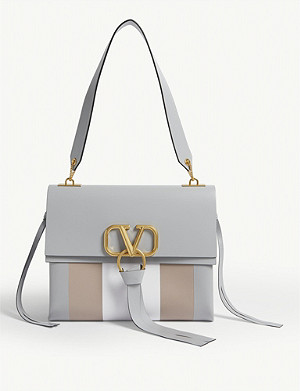 VALENTINO Vring leather shoulder bag