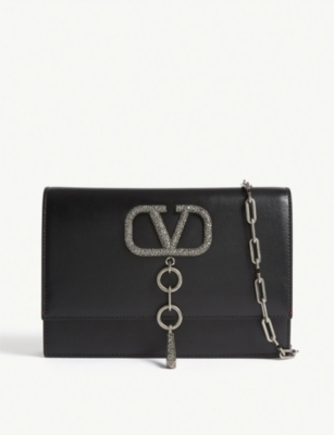 VALENTINO Swarovski crystal encrusted shoulder bag