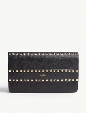 VALENTINO Rockstud rowstud leather clutch