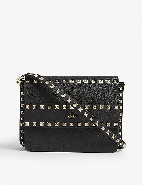 92c8c27ea99 VALENTINO Rowstud leather cross-body bag
