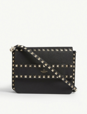 VALENTINO Rowstud leather cross-body bag