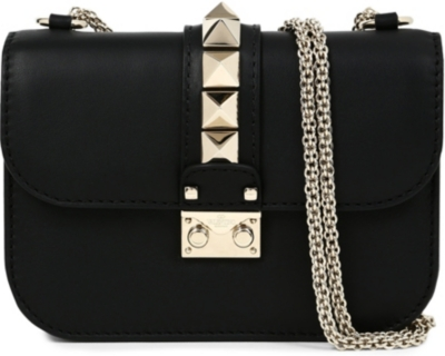 VALENTINO Rockstud Lock leather clutch
