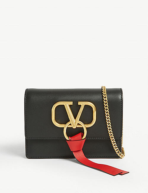 VALENTINO Vring leather mini cross-body bag