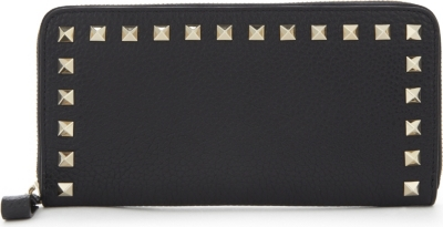 VALENTINO Rockstud small leather continental wallet