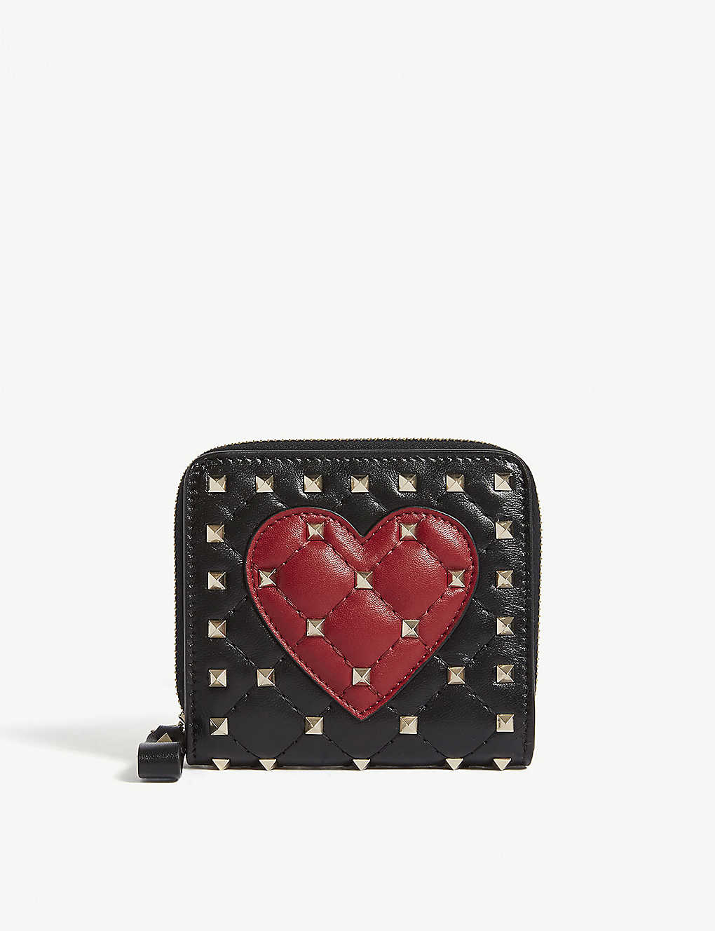 a3e4c915f24 VALENTINO - Rockstud heart quilted leather purse | Selfridges.com