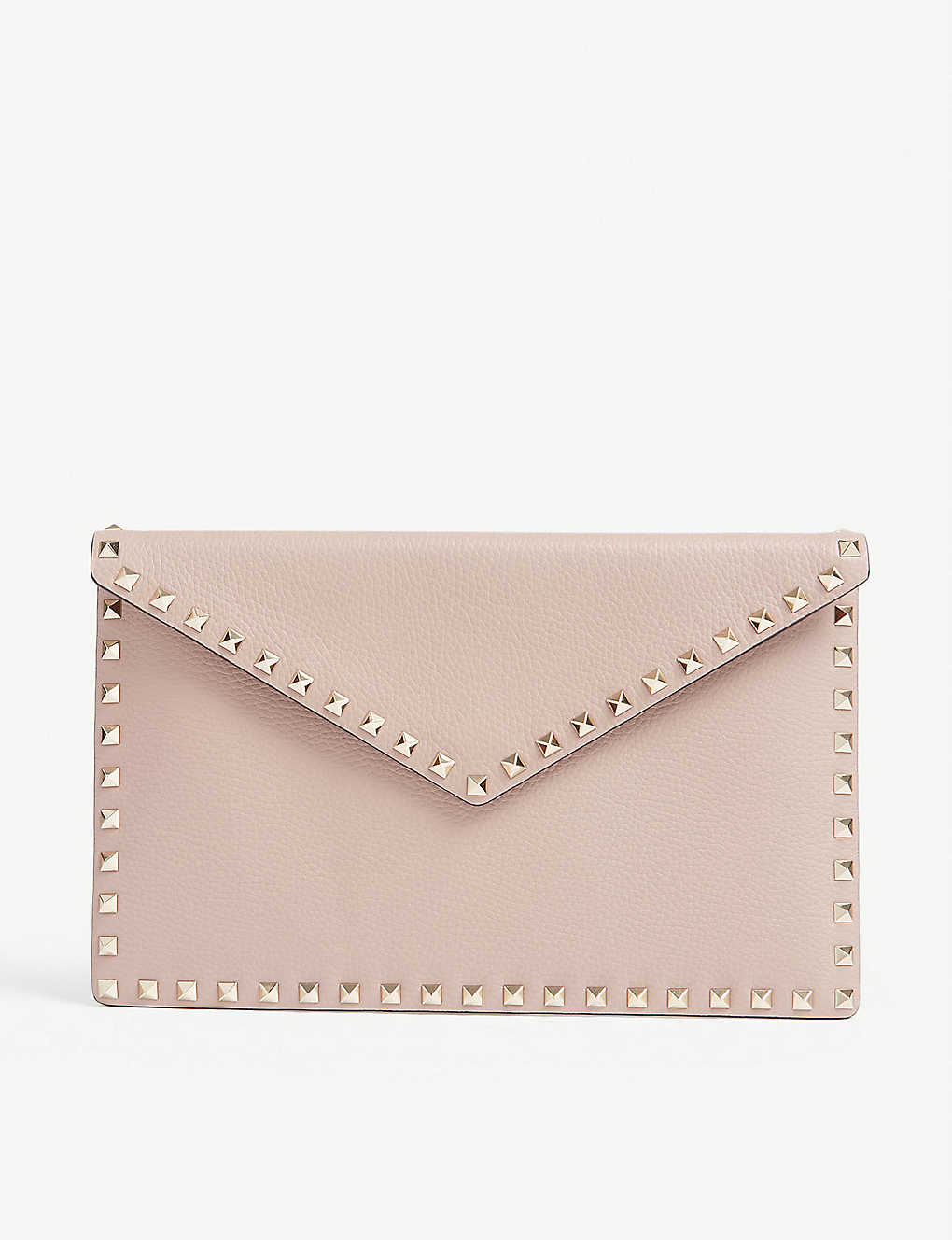 VALENTINO GARAVANI: Rockstud studded leather envelope clutch