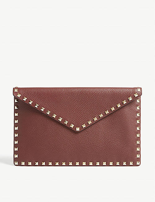 d9d626ec630d5 VALENTINO Rockstud leather clutch