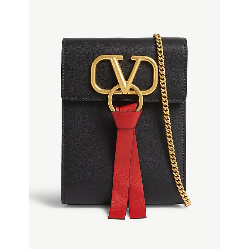 Valentino Backpacks VRING LEATHER BACKPACK