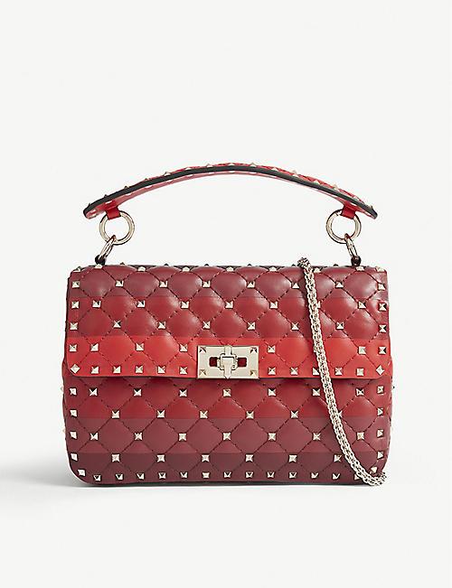 7fd16110d224c VALENTINO Rockstud quilted leather shoulder bag