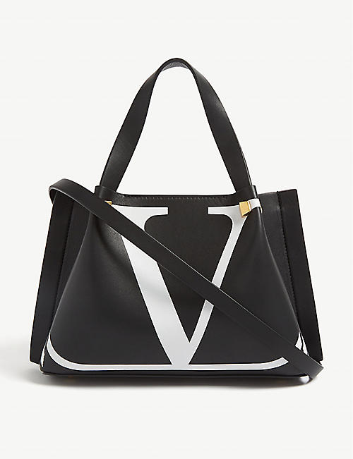 VALENTINO  V  logo leather mini shopper 1b603deaf0958