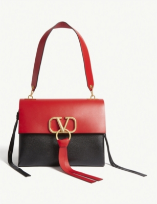 VALENTINO Vring leather shoulder bag bag