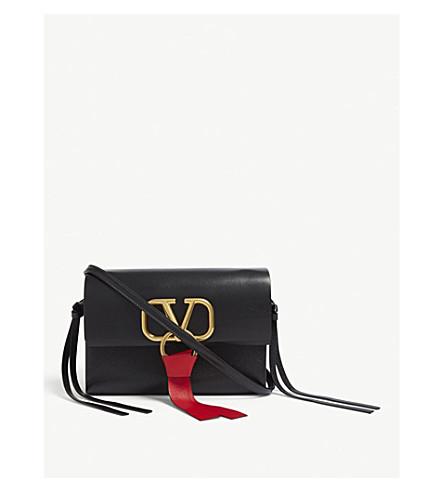 caebcd8392aea VALENTINO Vring leather mini cross-body bag (Black