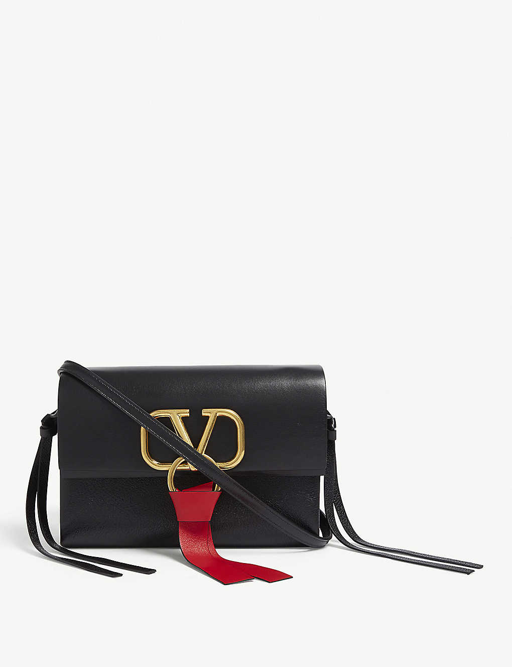 373efafcf217a VALENTINO - Vring leather mini cross-body bag