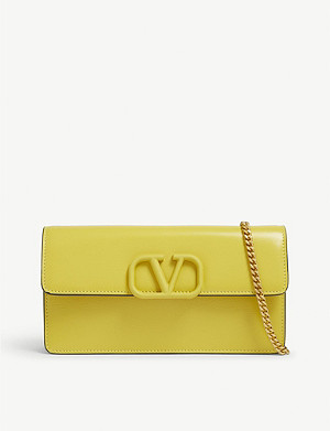 VALENTINO V logo leather wallet-on-chain