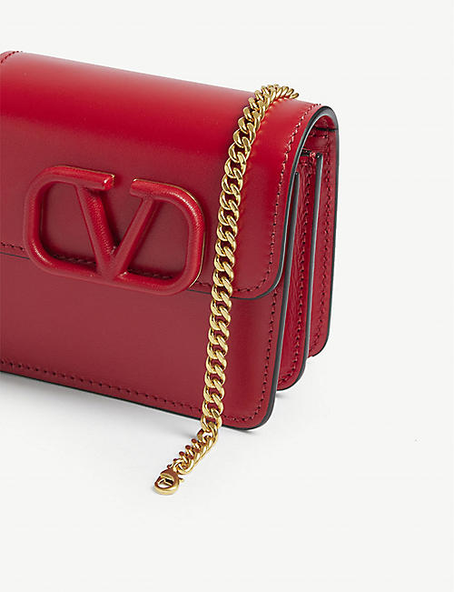 VALENTINO V-Ring logo leather mini bag