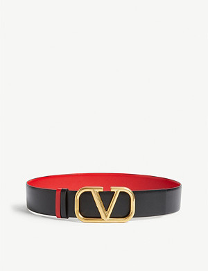 VALENTINO Go logo reversible leather belt