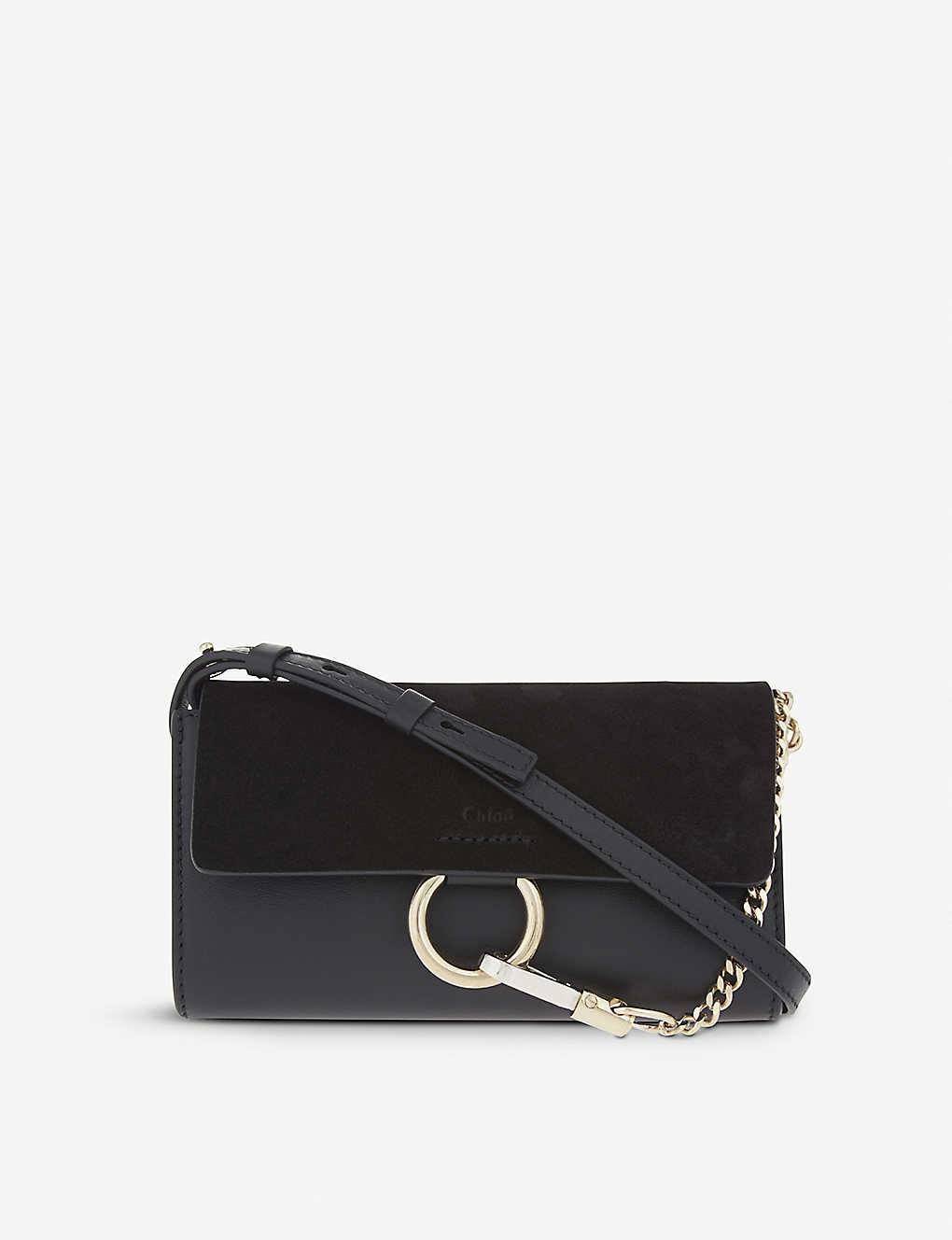 Chloé Clutch Faye leather and suede clutch