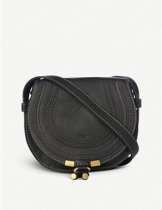 CHLOE: Marcie small leather saddle bag