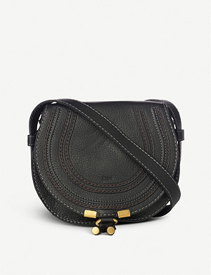 CHLOE Marcie small leather saddle bag