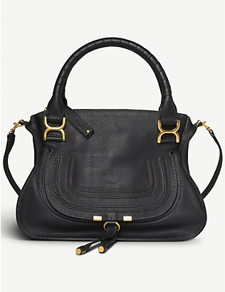 CHLOE: Marcie small leather shoulder bag