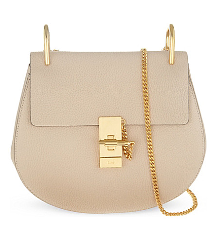 CHLOE Drew small leather cross-body bag (Abstract+white