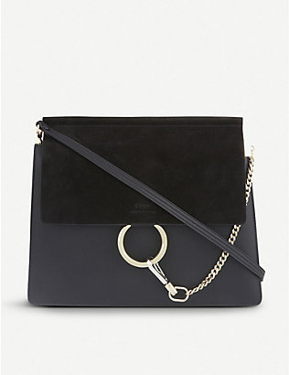 CHLOE: Faye leather and suede shoulder bag