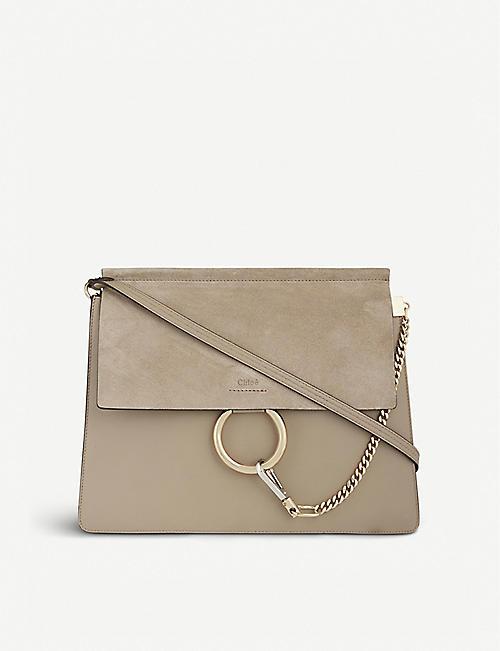 b0c927a19ecb CHLOE Faye leather   suede cross-body bag