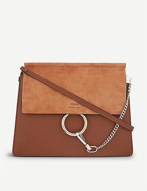 90efca473008 CHLOE Faye leather   suede cross-body bag