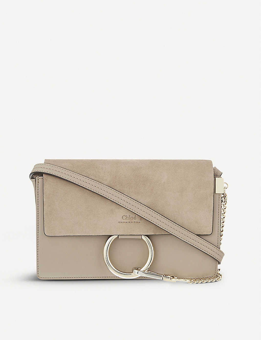 a4879e0e423f3 Faye small leather shoulder bag - Motty grey ...