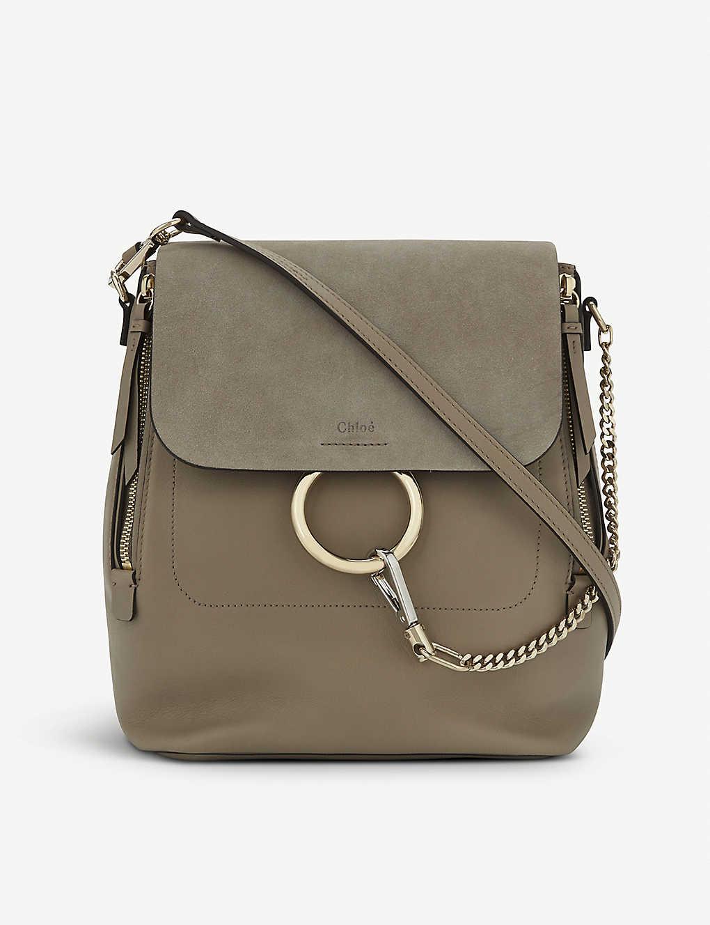 ff5cef730bc5 CHLOE - Faye leather & suede backpack   Selfridges.com