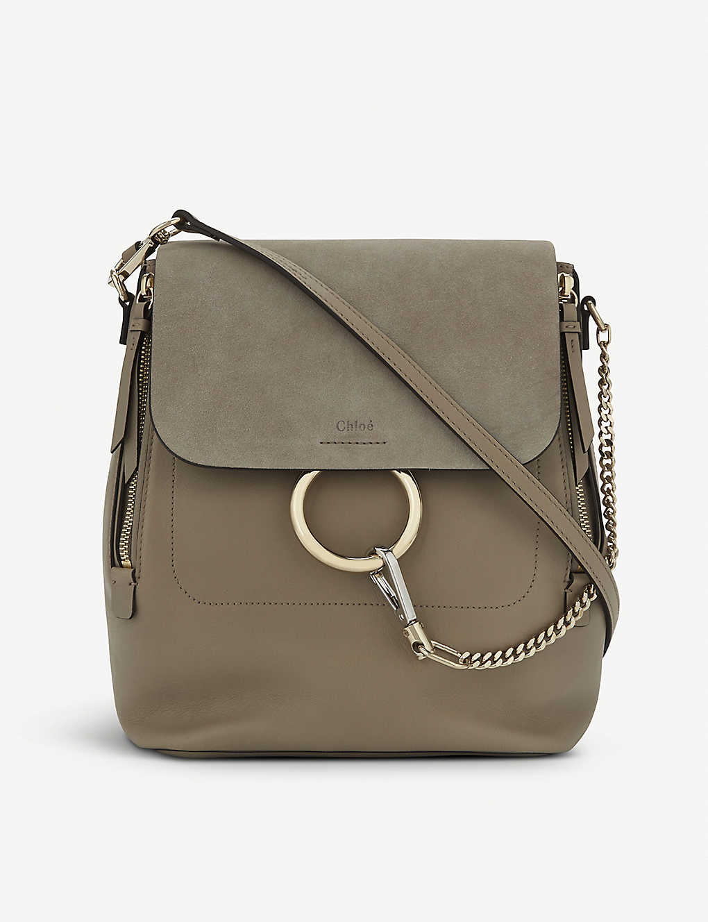 57d6a28ac9b CHLOE - Faye leather   suede backpack